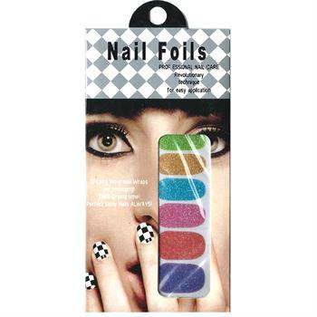 N/A Nail stickers - negle wraps  12 stk no. 12 fra fashiongirl