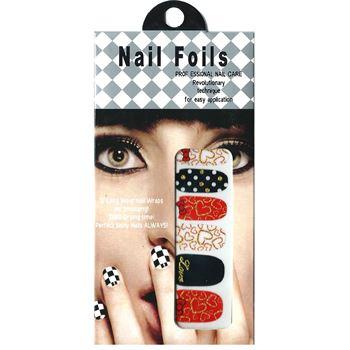 Nail stickers - negle wraps  12 stk no. 13 fra N/A på fashiongirl