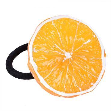 N/A Appelsin hårelastik fra fashiongirl