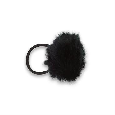 Image of   Pom Pom Pels med hårelastik - Sort