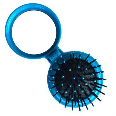 N/A – Kompakt makeup spejl med børste - blå på fashiongirl