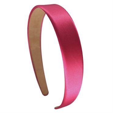 N/A Soho classic satin hårbøjle, pink på fashiongirl