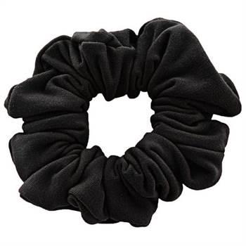 Image of   Scrunchie - Velour & elastisk - Sort
