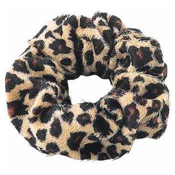 N/A – Scrunchie - velour & elastisk - leopard fra fashiongirl