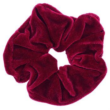 N/A – Scrunchie - velour & elastisk - rød på fashiongirl