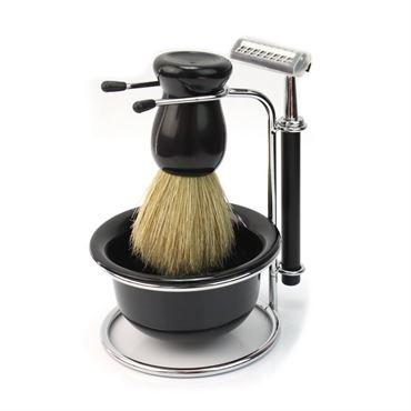 Barbersæt til mænd m/ shaver, børste og skål fra N/A fra fashiongirl