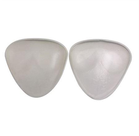 Image of   Trekantede BH indlæg af klar silikone - 2x70 gram
