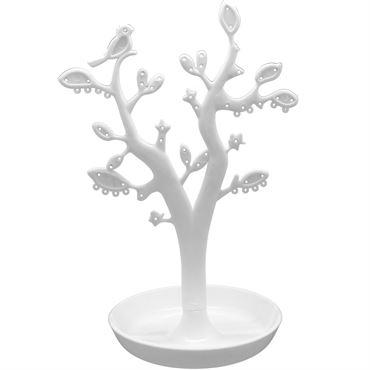 Smykketræ med blade - Hvid (CTN005)