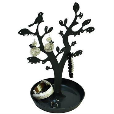 Smykketræ med blade - Sort (CTN005)