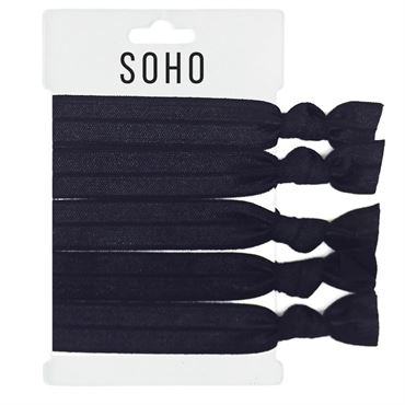 N/A – Soho® hair ties no. 17 - all black fra fashiongirl