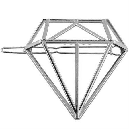 SOHO® Diamant Hårspænde - Sølv