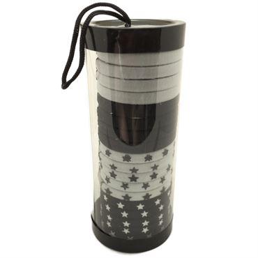 Image of   SOHO® Tube B & W Stars hårelastikker - 20 stk