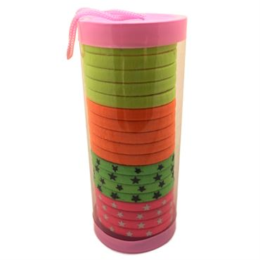 Image of   SOHO® Tube Neon hårelastikker - 20 stk