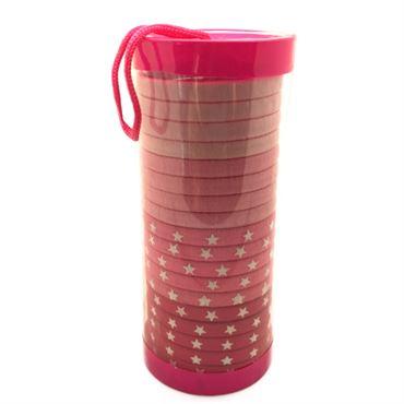 Image of   SOHO® Tube Pink Star hårelastikker - 20 stk