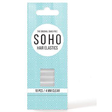 Soho snag-free hårelastikker, gennemsigtig  - 10 stk fra N/A fra fashiongirl