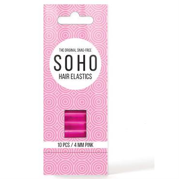 N/A – Soho snag-free hårelastikker, pink  - 10 stk fra fashiongirl