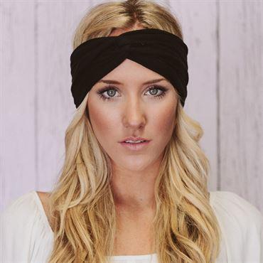 N/A – Soho® turban hårbånd, sort fra fashiongirl