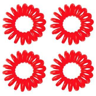 Image of   Spiral elastikker - rød 4 stk