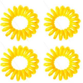 Spiral elastikker gul 4 stk. fra N/A fra fashiongirl