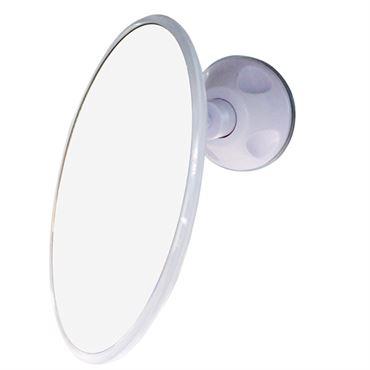 N/A – Uniq badeværelses spejl med sugekop x10 forstørrelse, hvid på fashiongirl