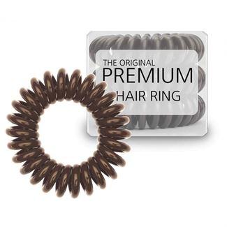 N/A Premium spiral elastikker 3 stk. brun fra fashiongirl