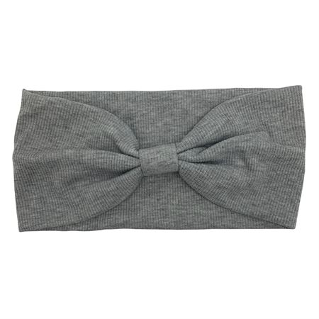 Image of   SOHO® Hæklet turban hårbånd - Lysgrå