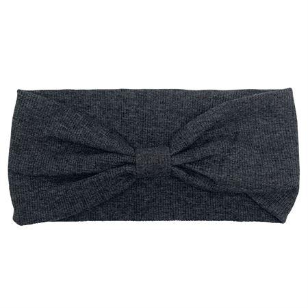 Image of   SOHO® Hæklet turban hårbånd - Mørkgrå