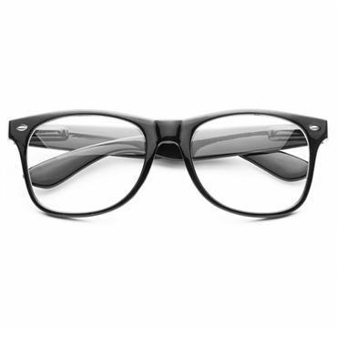 N/A – Klassiske wayfarer briller med klart glas på fashiongirl