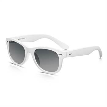N/A Wayfarer solbriller - hvide på fashiongirl
